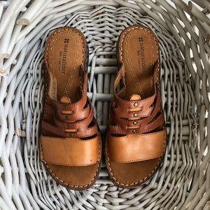 Brown Slip On Sandals Naturalizers N5 Comfort